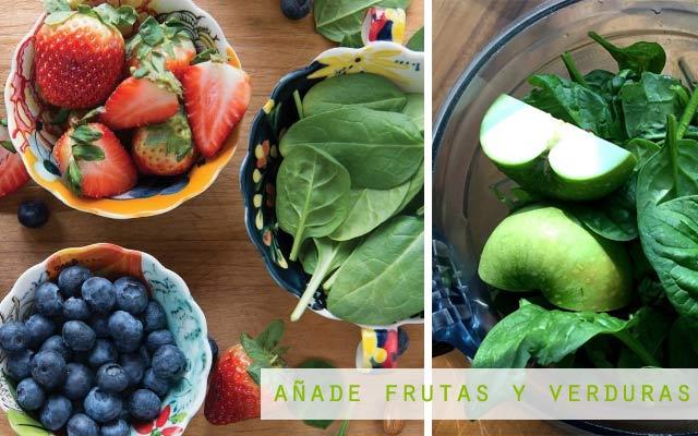 Añade frutas y verduras a tu smoothie