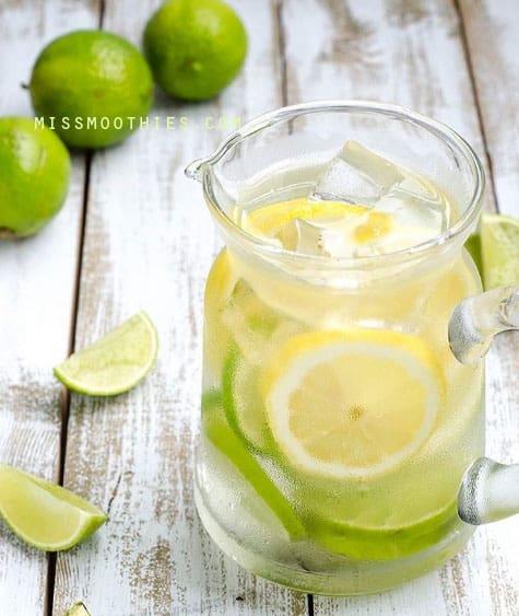 Agua de limón, lima y pomelo
