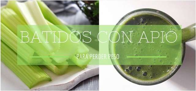 Batidos Verdes con Apio para Depurar tu Cuerpo y Adelgazar