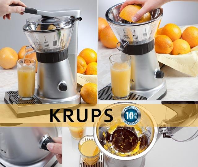Krups Citrus Press ZX7000 - Exprimidor de naranjas con tapa