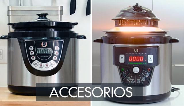 Accesorios de una olla GM (cubetas y cabezales de horno)