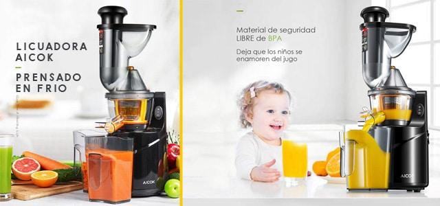 Licuadora de Prensado en Frío Aicok (para frutas y verduras) - Opiniones y Precio