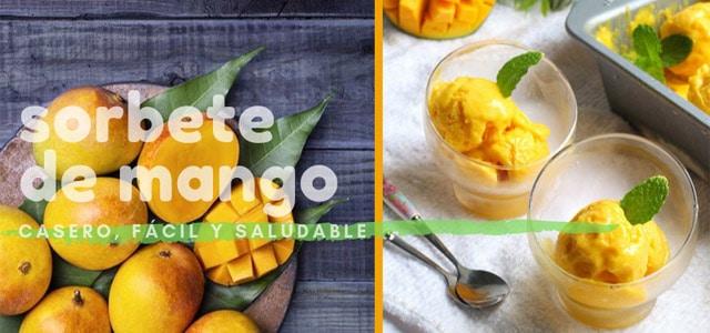 sorbete de mango y naranja
