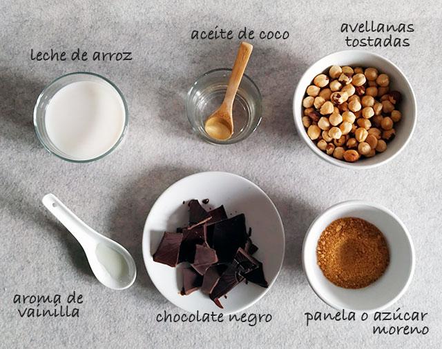 ingredientes de nocilla casera
